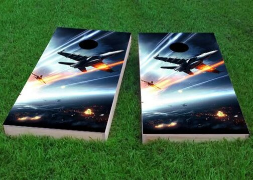 Soaring Jets Cornhole Game (Set of 2) by Custom Cornhole Boards