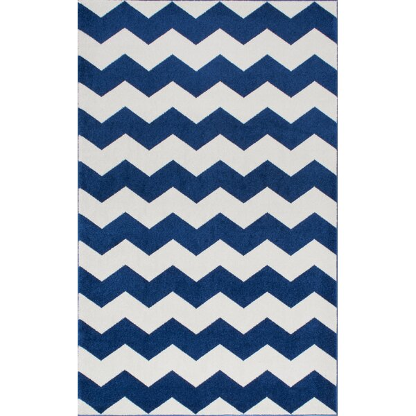 Rowan Navy Area Rug by Viv + Rae