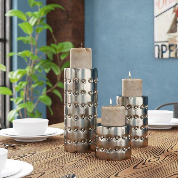 3 Piece Metal Candlestick Set by Trent Austin Design