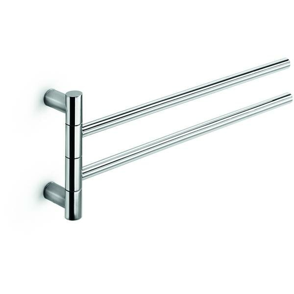 Picola Double Swing Out 14.6 Wall Mounted Towel Bar with 2 Folding Arms by AGM Home Store