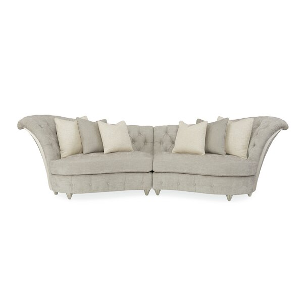 Chenille Curved Sectional By Caracole Compositions