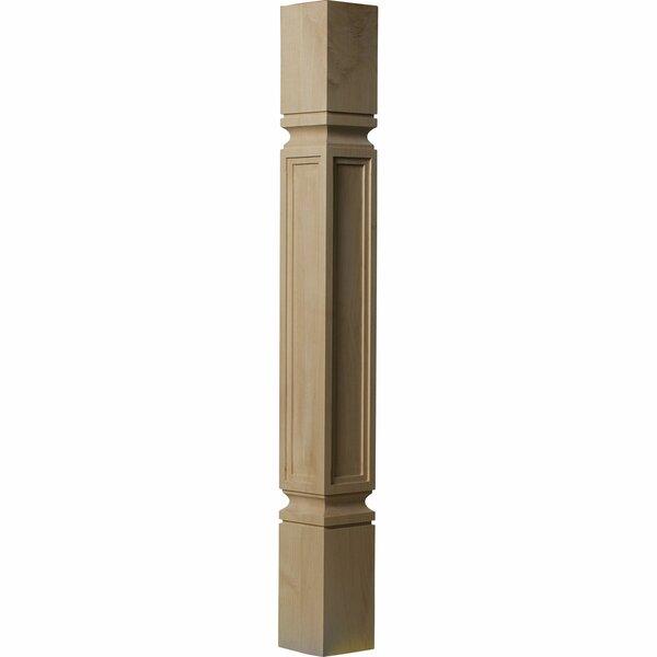 Kent 35 1/2H x 3 3/4W x 3 3/4D Raised Panel Cabinet Column in Alder by Ekena Millwork
