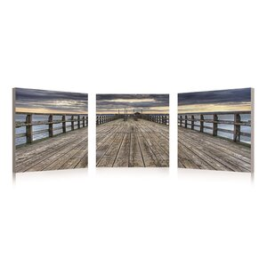 3 Piece Framed Dock Photographic Print Set by Beachcrest Home
