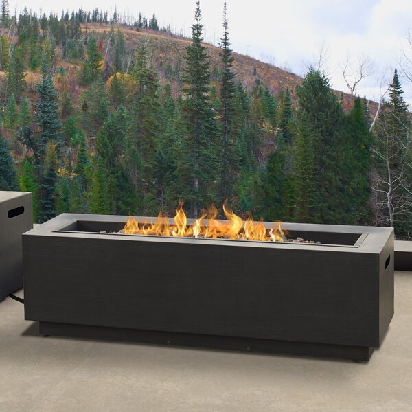 Lanesboro Rectangle Steel Propane/Natural Gas Fire Pit by Real Flame