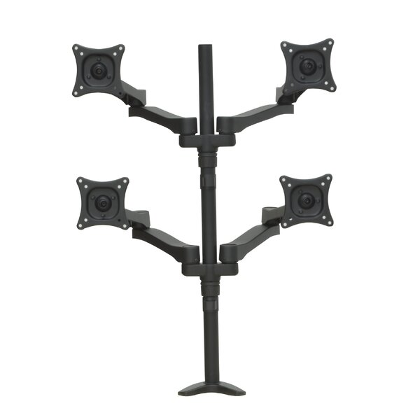 Articulating Quad Monitor Mount Height Adjustable 4 Screen Desk Mount by Regency