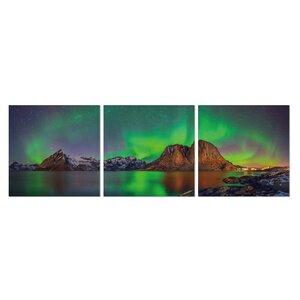 Aurora in Iceland 3 Piece Photographic Print Set by Furinno