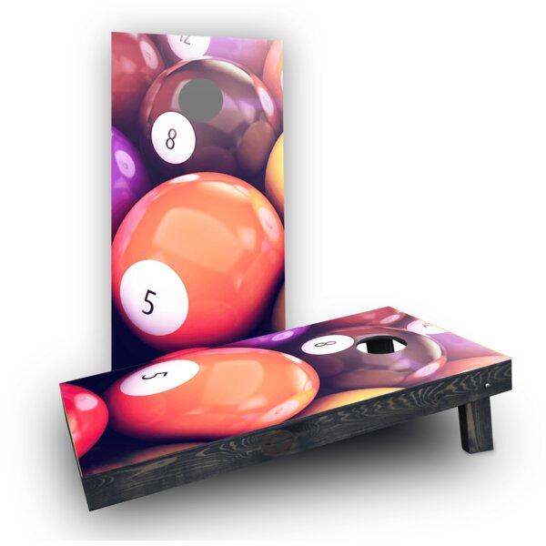 Billiards Cornhole Boards (Set of 2) by Custom Cornhole Boards