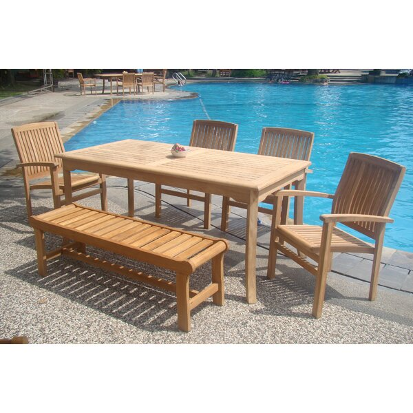 Palou Luxurious 6 Piece Teak Dining Set by Rosecliff Heights
