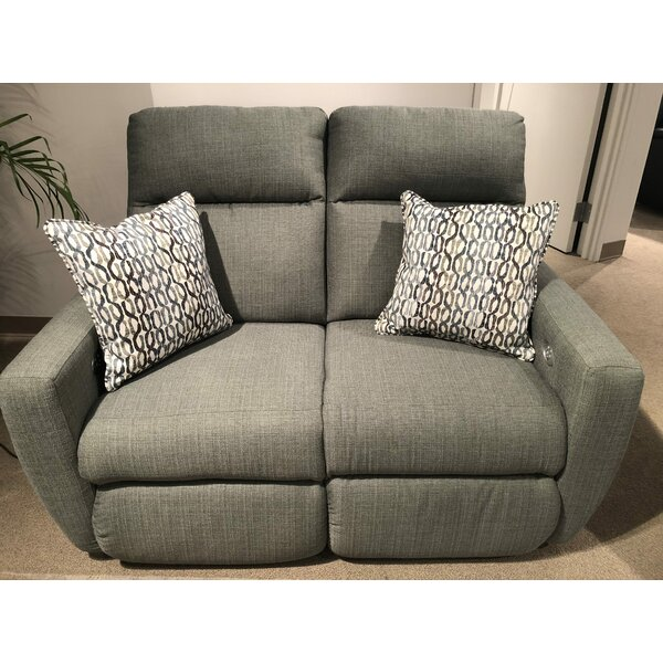 Trendy Modern Knockout Reclining Loveseat by Southern Motion by Southern Motion
