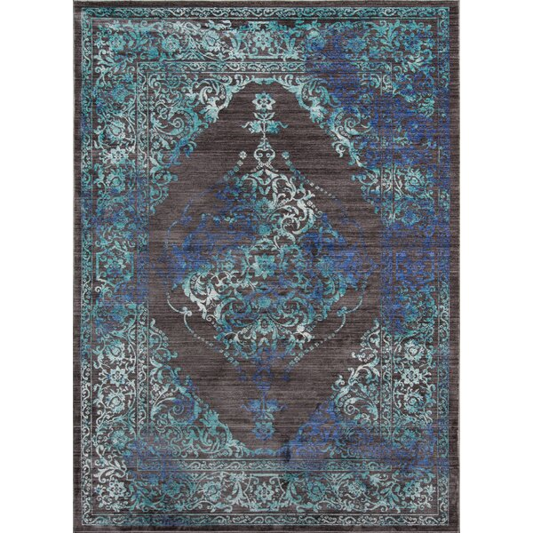 Lawler Charcoal Area Rug by World Menagerie