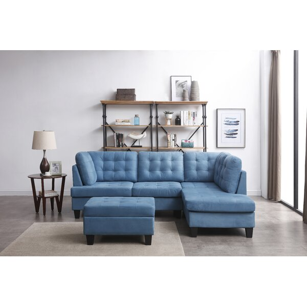 New Trendy Thibodeau Right Hand Facing Modular Sectional by Ebern Designs by Ebern Designs