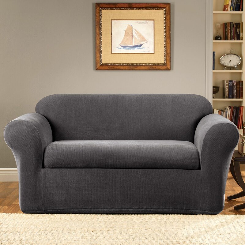 Superbe Stretch Metro Box Cushion Sofa Slipcover