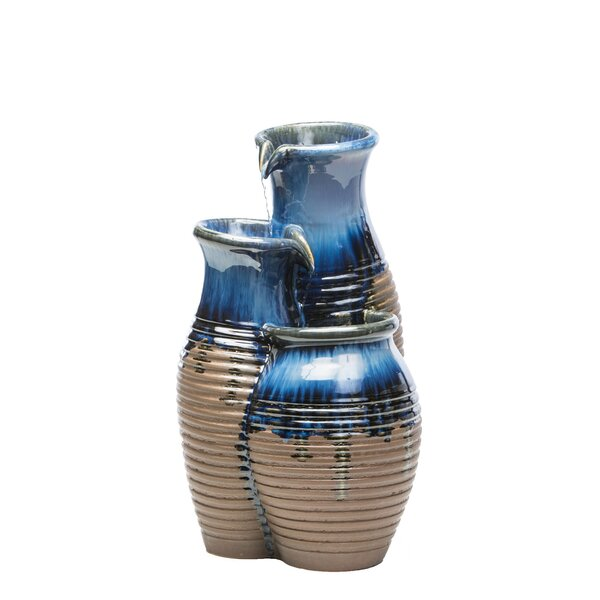 Ceramic Canaan Jars Fountain by Alfresco Home