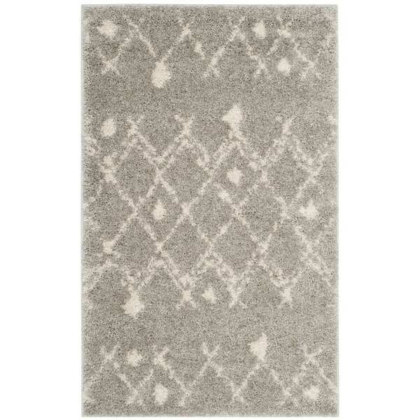 Saira Light Gray/Cream Area Rug by Bungalow Rose