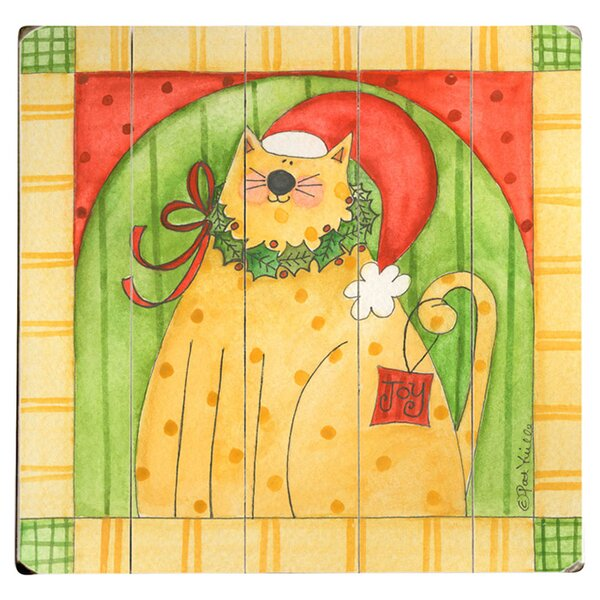Christmas Cat Graphic Art Multi-Piece Image on Wood by Artehouse LLC