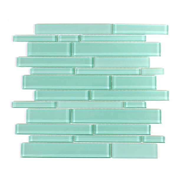 Premium Random Sized Glass Mosaic Tile in Teal by WS Tiles