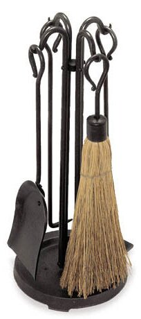 Raised Hearth Stove 5 Piece Fireplace Tool Set by Pilgrim Hearth