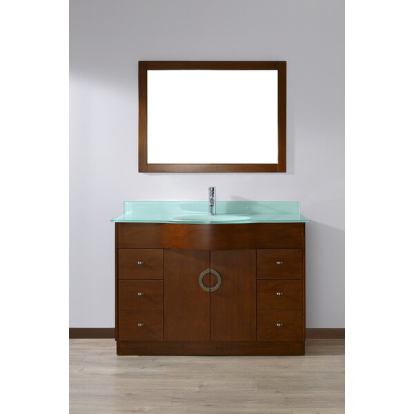 Zed 48 Single Bathroom Vanity Set with Mirror by Bauhaus Bath