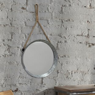 Gracie Oaks Donna Suspended Galvanized Accent Wall Mirror