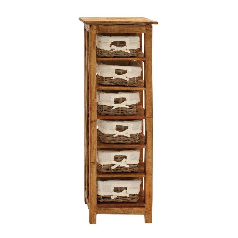 Hartshorne Storage Unit With Shelve And Warm Basket 6 Drawer Chest