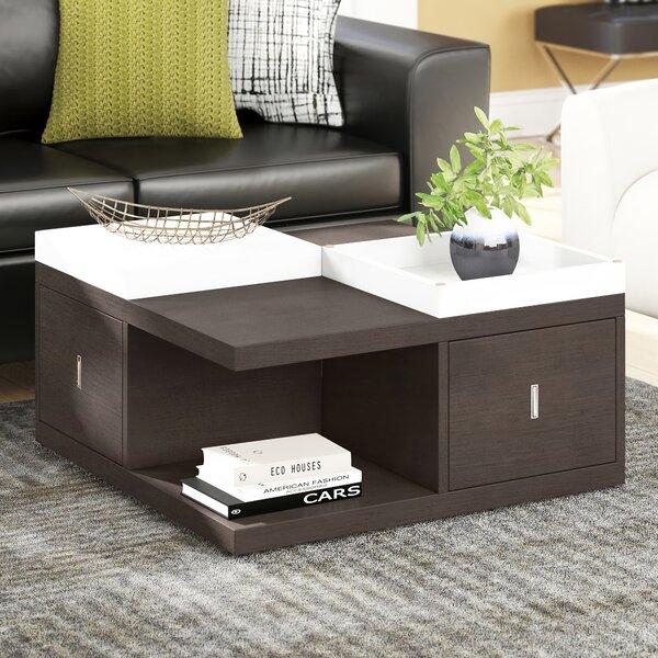 Ammar Floor Shelf Coffee Table With Storage By Wade Logan