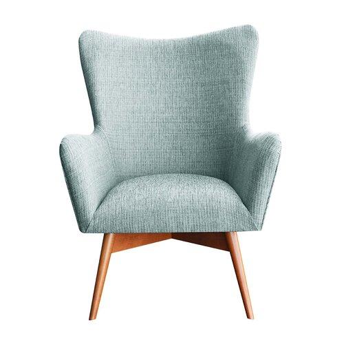 Wesley Wingback Chair Happy Barok Upholstery: Sky Blue