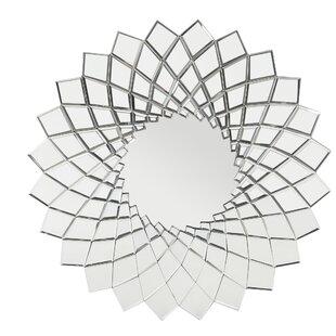Orren Ellis Georgescu Glam Sunburst Accent Mirror