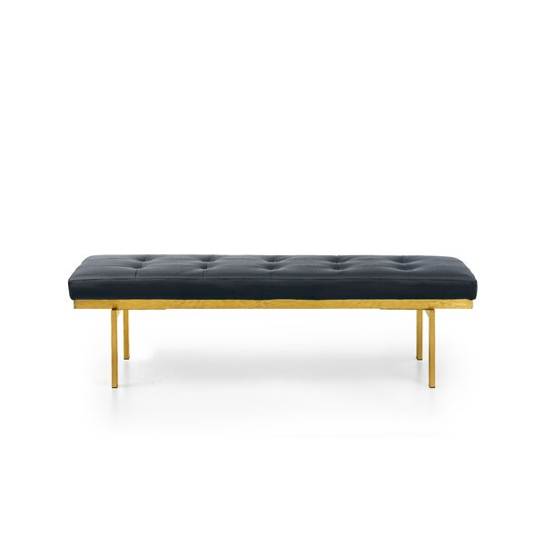 Lawncrest Upholstered Bench by Everly Quinn Everly Quinn