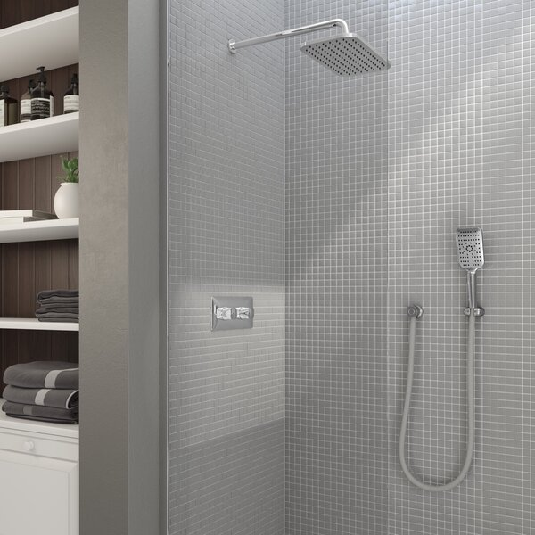 Thermostatic Complete Shower System With Rough-in Valve By Aquabrass