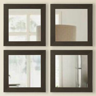 Latitude Run Square Wall Mirror (Set of 4)