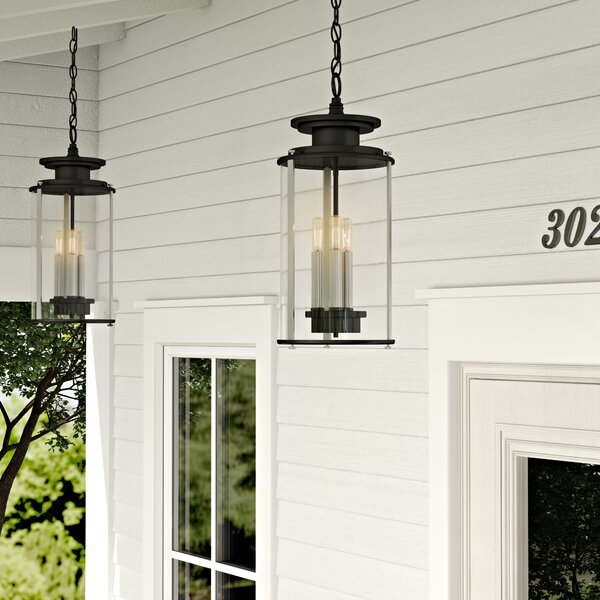 Evgenia 3-Light Outdoor Hanging Lantern by 17 Stories