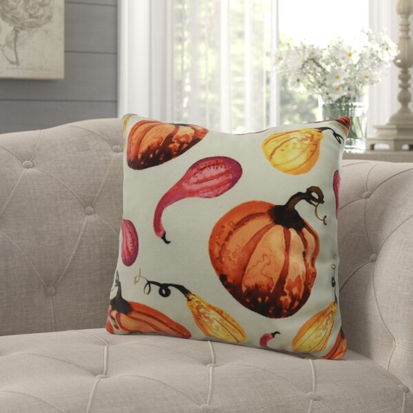Bigner Gourds Galore Fall Outdoor Throw Pillow by August Grove