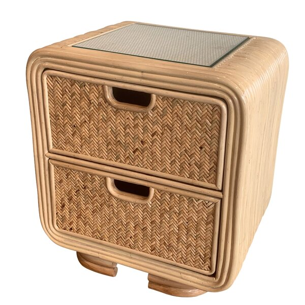 Armory Rattan 2 Drawer Nightstand by Bayou Breeze
