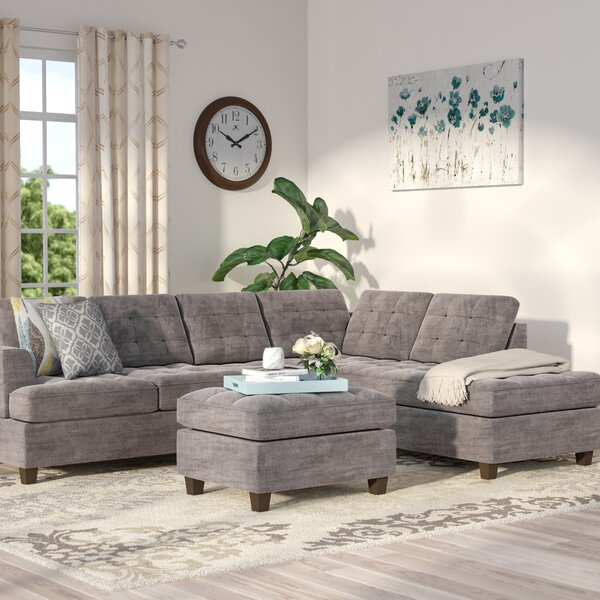 Gabbard Reversible Sectional with Ottoman by Andov