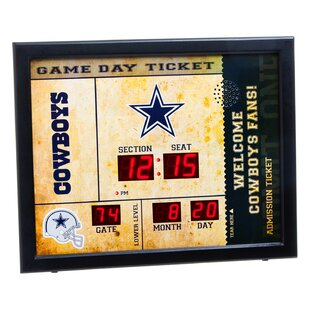NFL Bluetooth Scoreboard Wall Clock