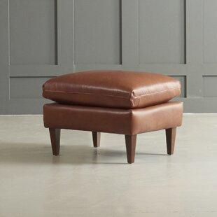 Florence Leather Ottoman by DwellStudio
