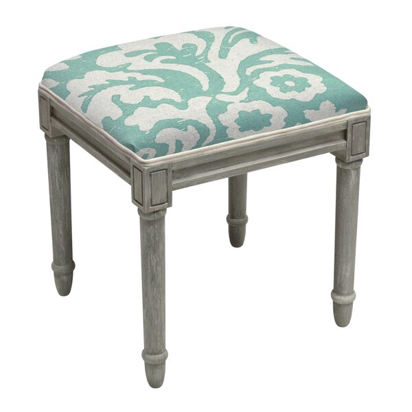 Jacobean Floral Vanity Stool by 123 Creations