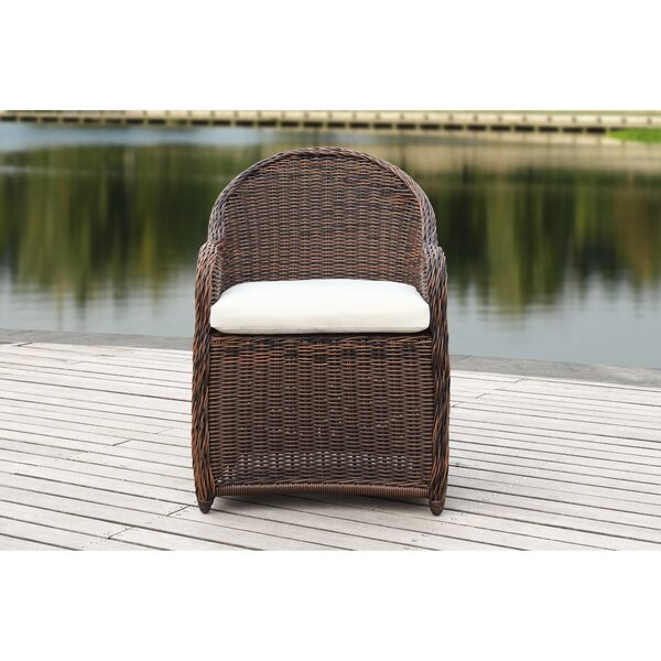 Darwin Patio Chair with Cushion by Bungalow Rose Bungalow Rose