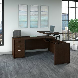 Height Adjustable L Shaped Standing Desk