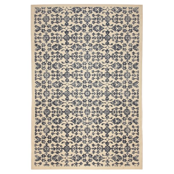 Jazmin Beige/Blue Area Rug by Charlton Home