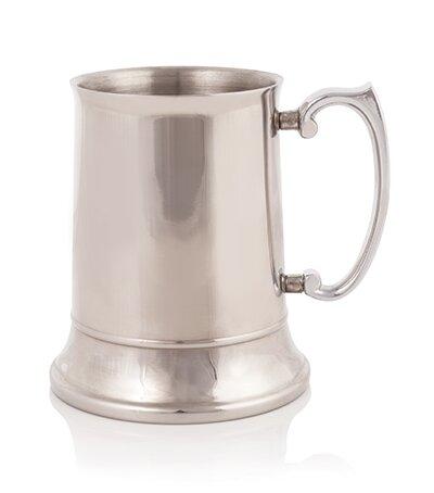 Admiral Beer Glass 16 oz. Stainless Steel by Viski