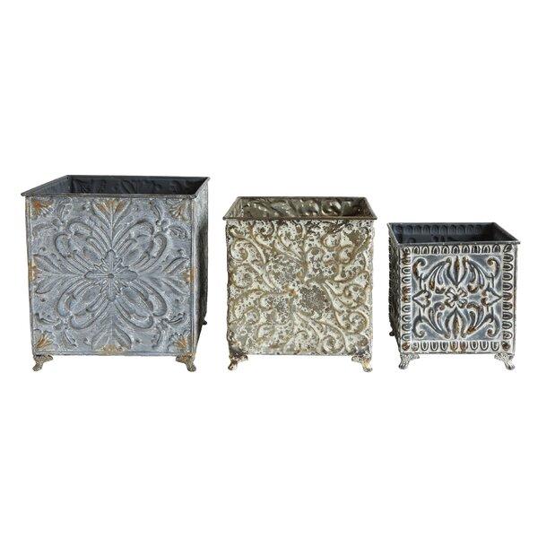 Kluge 3-Piece Metal Planter Box Set by Ophelia & Co.