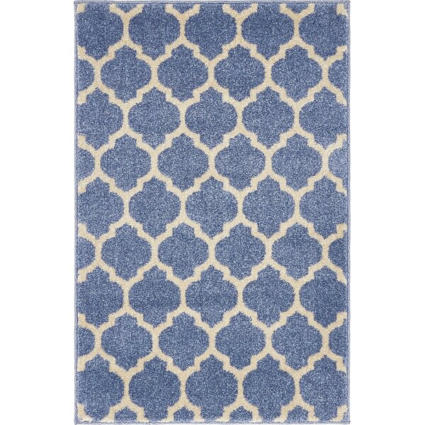 Harding Light Blue Area Rug by Charlton Home