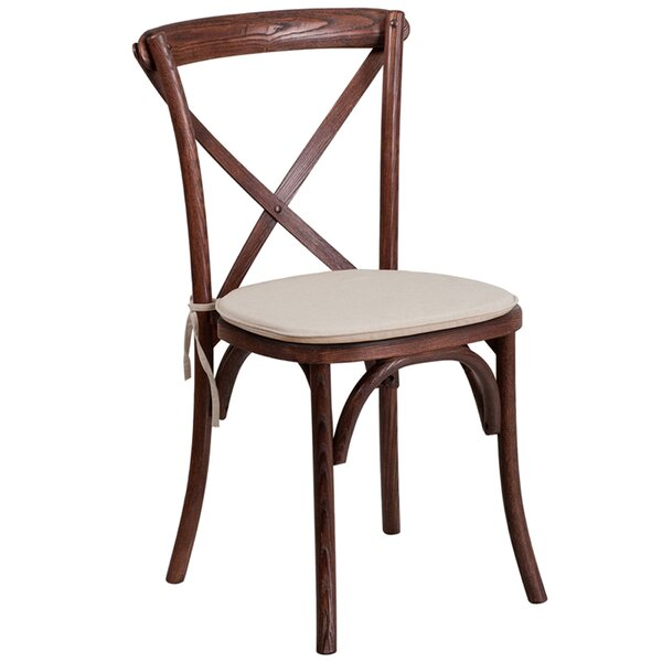 Magpie Early American Cross Back Solid Wood Dining Chair by Gracie Oaks