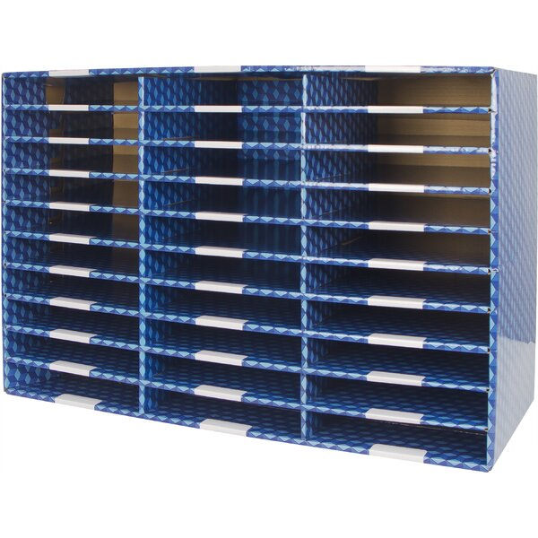 30 Compartment Corrugated Mailroom Sorter By Storex.