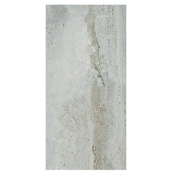 Amber 12 x 24 Porcelain Field Tile in Silver by Casa Classica