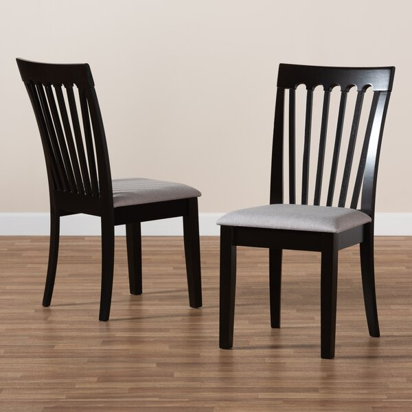 Cerie Slat Back Side Chair In Espresso (Set Of 2) By Canora Grey