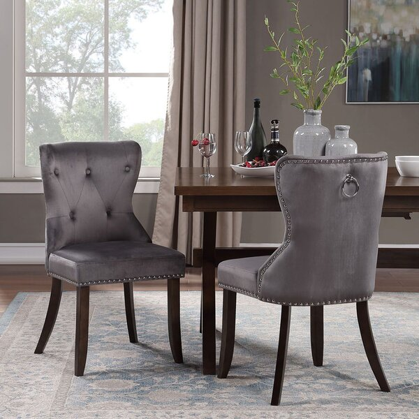Vannote Tufted Upholstered Wingback Parsons Chair (Set of 4) by Rosdorf Park Rosdorf Park