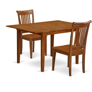 Milan 3 Piece Dining Set by East West Furniture