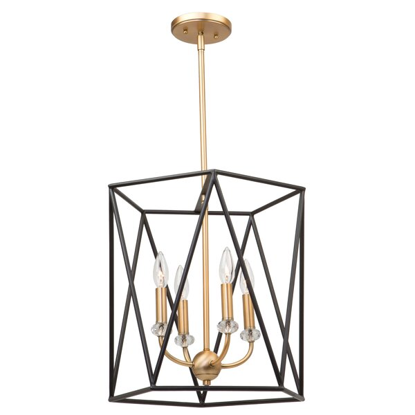 Electa 4-Light Unique / Statement Geometric Chandelier By Ivy Bronx